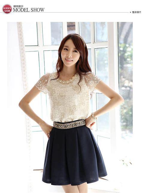 Atasan Import Korea atasan wanita korea brokat cantik model terbaru jual