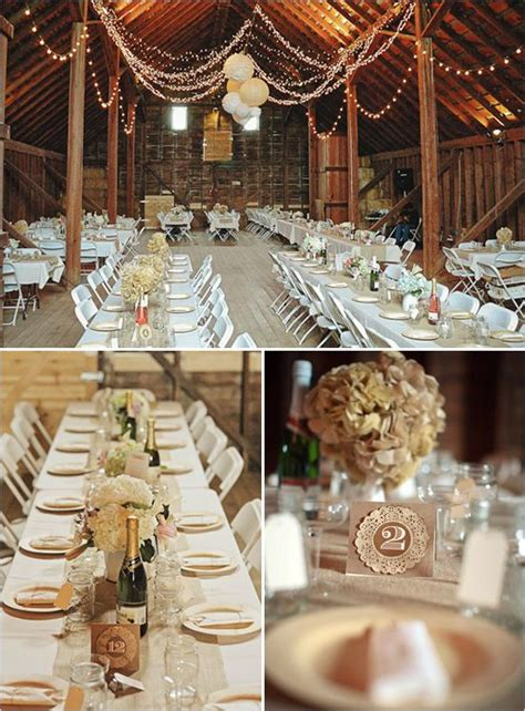country style wedding reception barn wedding reception tablescape table number idea