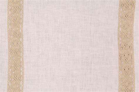 lace drapery fabric 7 7 yards beacon hill josiane linen cotton drapery