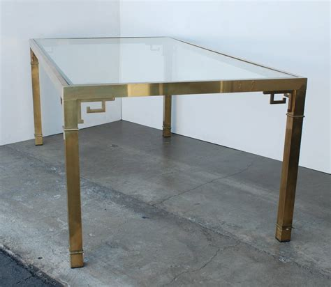key table l mastercraft brass key dining table for sale at 1stdibs
