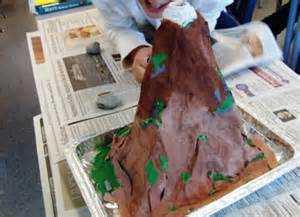 How To Make A Paper Mache Volcano Explode - paper mache volcanoes