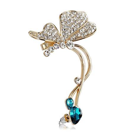 Butterfly Earring butterfly ear cuff earrings rhinestones butterfly earrings