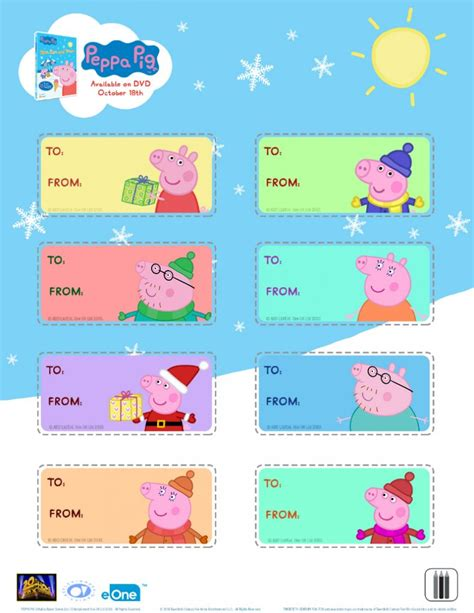free peppa pig christmas gift tags mama likes this