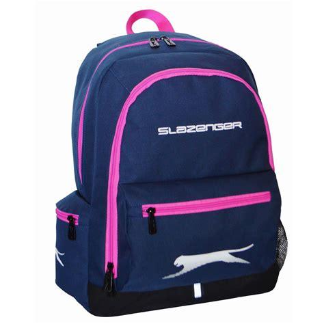 navy club backpack 3265 pink slazenger backpack lunch box navy pink rucksack sports