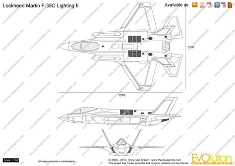 F Drawings Blueprints by Lockheed Martin F 35 Lightning Ii Vector Drawing