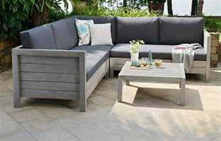 Wooden Sofa With Storage Lodge Wooden Garden Sofa Set