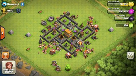 clash of clans town hall 5 farming defense best base layout town hall 5 clash of clans ad mortem