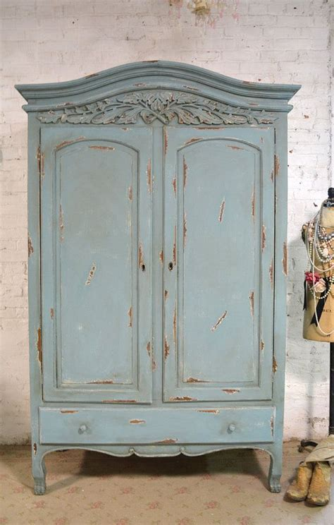 shabby armoire french armoire painted cottage chic shabby french romantic