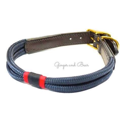 rugged collars rugged hudson collar patriot navy with leather buckle and