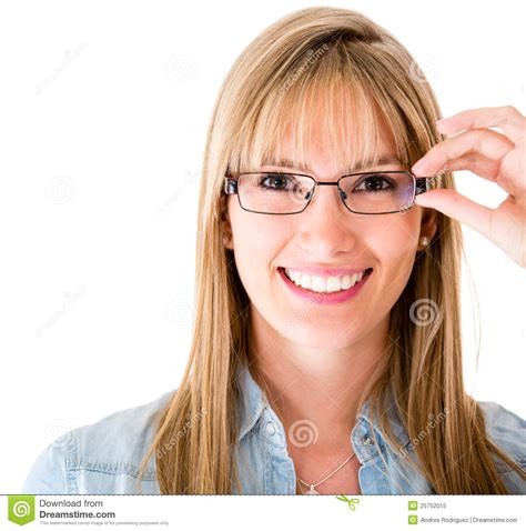 wearing glasses business smiling white royalty free stock images models picture