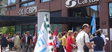 istituto centrale banche popolari cisl presidio a davanti alla sede di icbpi