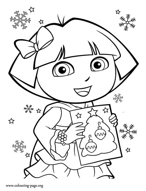 big dora coloring pages dora dora with a beautiful card coloring page