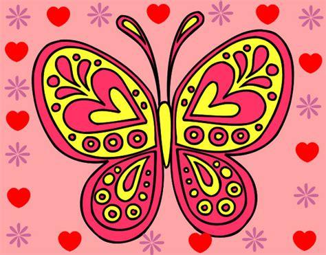 imagenes bonitas para dibujar pintadas dibujo de la mariposa linda pintado por notanloka en