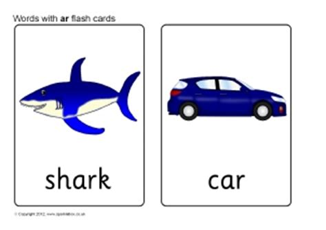 flash card maker with audio words with ar phonics activities and printable teaching