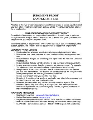 Judgement Proof Letter To Creditors Judgement Letters Fill Printable Fillable Blank Pdffiller