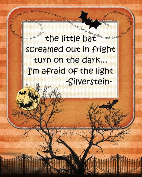 printable halloween quotes the little bat screamed out in fright pink polka dot