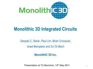 applications of 3d integrated circuits ppt the monolithic dome powerpoint presentation id 274319