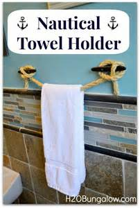 nautical towel holder diy nautical towel holder lakes lake cabins and awesome