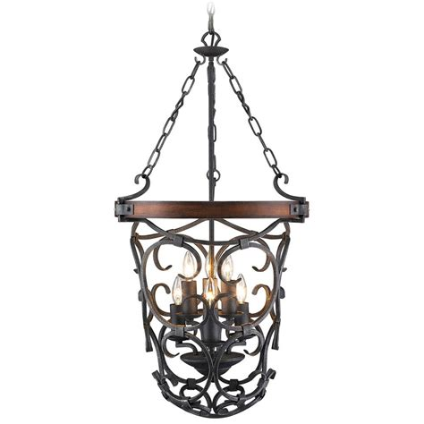 Black Iron Pendant Light Golden Lighting Madera Black Iron Pendant Light 1821 6p Bi Destination Lighting