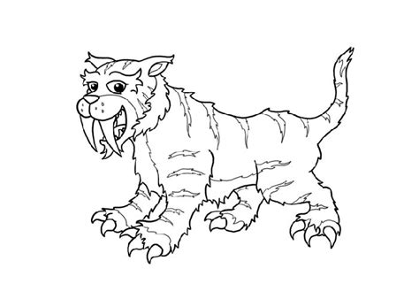 coloring pages saber tooth