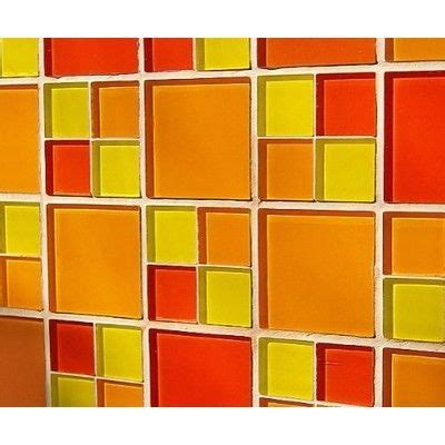 yellow and orange bathroom 25 best ideas about midcentury mosaic tile on pinterest