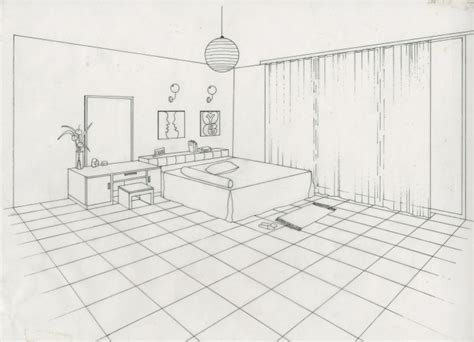 2 Point Perspective Interior Room by Technical Drafting By Siti Fatimah At Coroflot