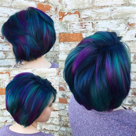colorful short hair styles peacock hair color 7 free hair color pictures