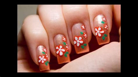 Super Easy Nail Art Youtube | super easy cute peach flower nail art design tutorial