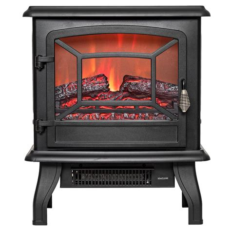 akdy 17 in freestanding electric fireplace stove heater
