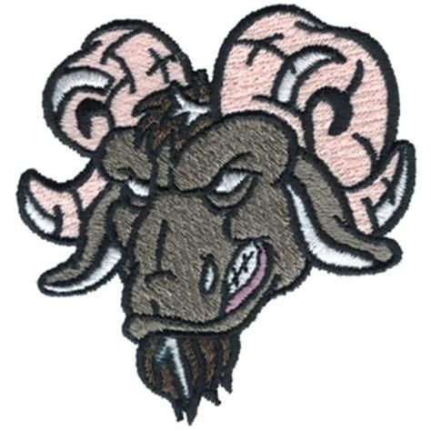 embroidery design dakota dakota collectibles embroidery design rams 3 00 inches h
