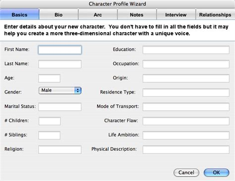 character profile template drama screenplay format a guide to industry standard script