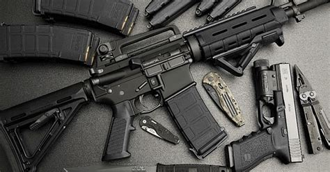m4 carbine and glock 21 ammo and gun collector