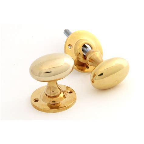 Oval Brass Door Knobs by Classic Oval Door Knobs Brass