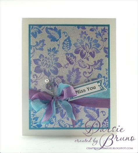 Papercraft Inc - pretty card using justrite papercraft inc secret garden