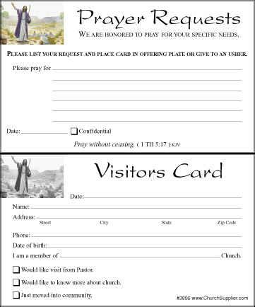 church visitor card template the gallery for gt prayer request sheet