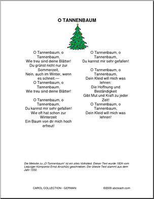 o christmas tree german german carols o tannenbaum abcteach