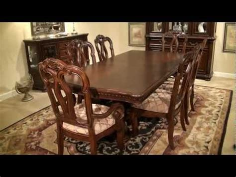 san marino rectangular pedestal dining table by
