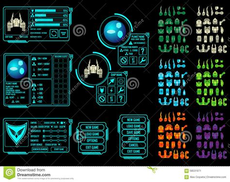 design your space space game asset stock vector image 58531971