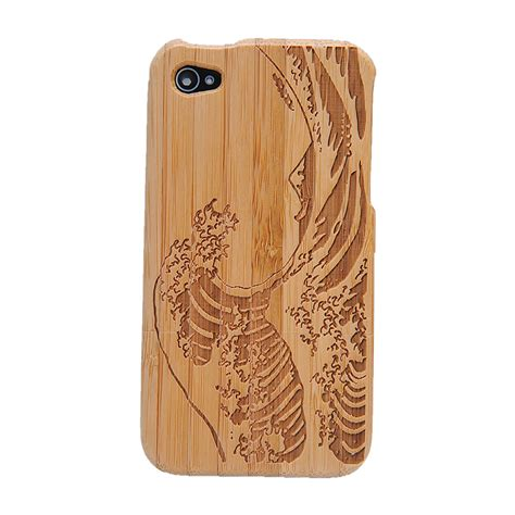 Iphone 4 4s Iphone4 Iphone4s Wood Wooden Hardcase wooden wave bamboo for iphone 4 4s on luulla