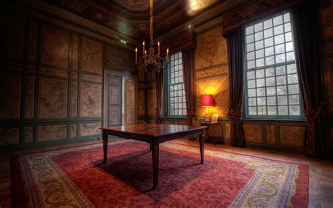 interior room apartment design style castle table brown