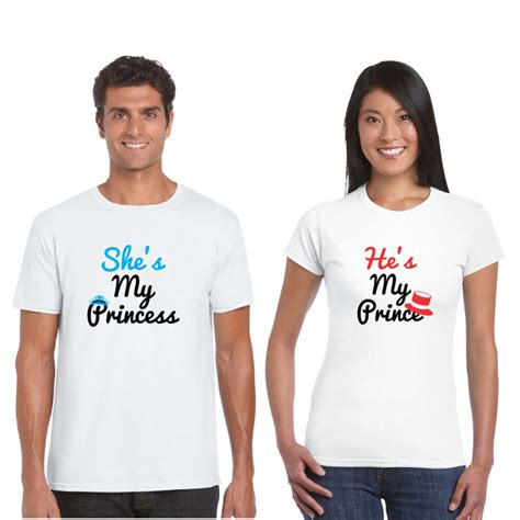 He is My Prince She is My Princess Couple T shirt   Giftsmate