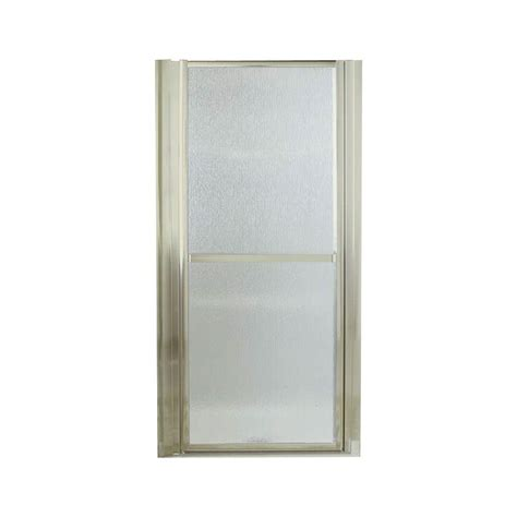 Framed Pivot Shower Door Sterling Finesse 39 1 2 In X 65 1 2 In Framed Pivot Shower Door In Nickel With Glass