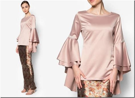 Baju Wanita Blouse Renda Lace brocade bell sleeve modern kurung 7 modern baju kurung