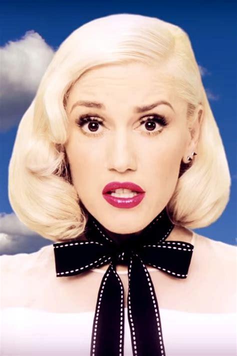 Gwen Stefani Hairstyles by Gwen Stefani Wavy Platinum Inward Curl Retro