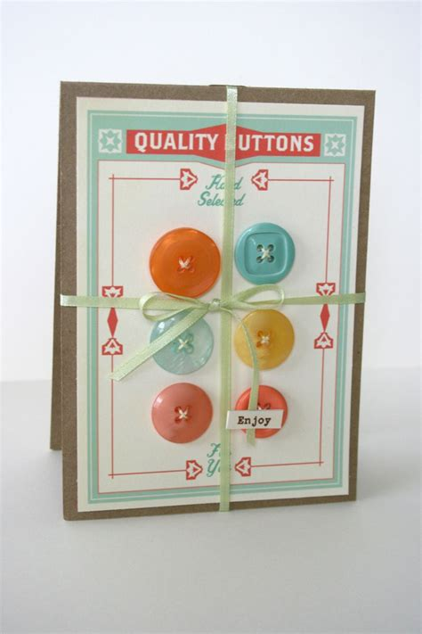 Handmade Cards With Buttons - button card cards cosmo cricket