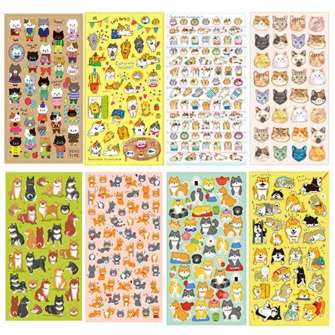6 Pcs Cat Transparent Stickers Stiker Lucu Kucing buy grosir kereta luncur anjing stiker from china kereta luncur anjing stiker penjual