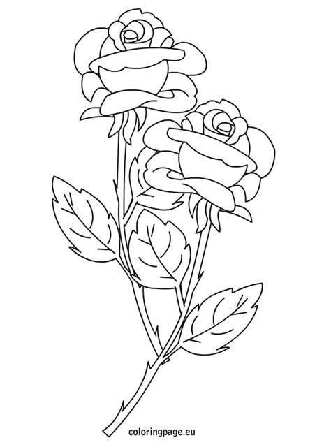 Free Coloring Pages Of Heart Rose Banner Roses And Hearts Coloring Pages 2
