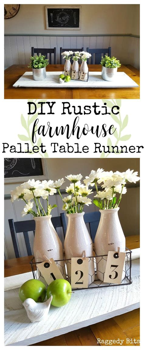 diy rustic farmhouse pallet table runner raggedy bits