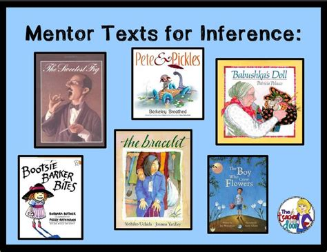picture books to teach inference skills mentor texts to teach inference school reading