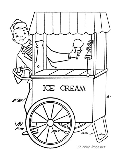 ice cream store coloring page ice cream coloring pages for kids coloring home